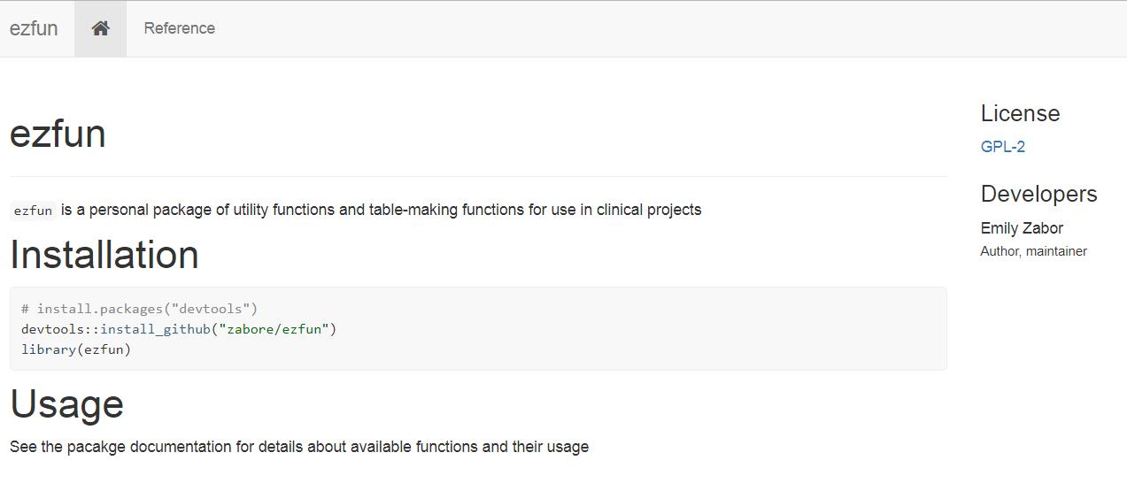 Creating websites in R